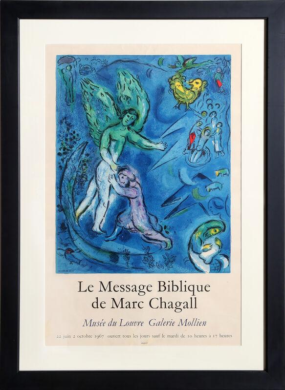 Marc Chagall, 'La Message Biblique - Musee du Louvre Galerie Mollien', 1967, Ephemera or Merchandise, Lithograph Poster, RoGallery