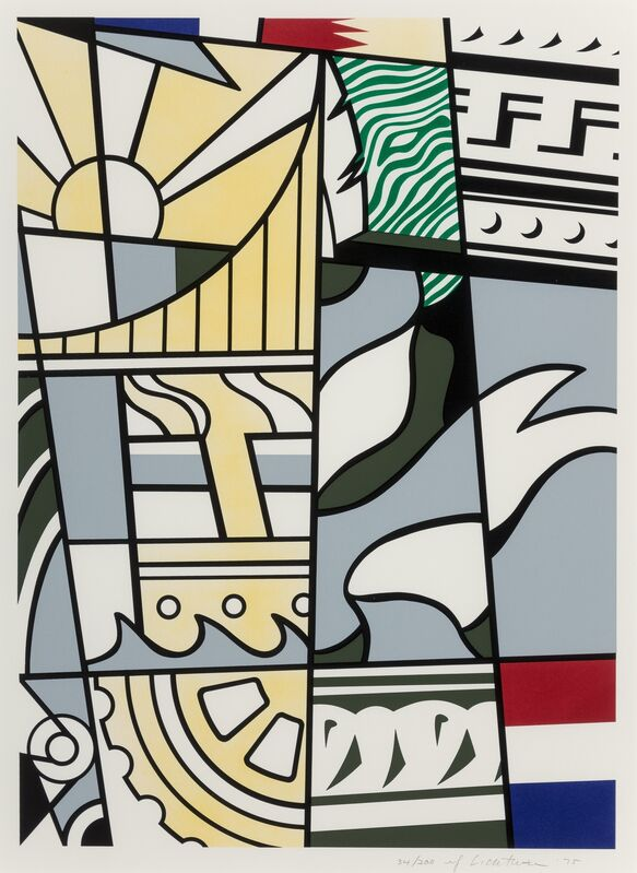 Roy Lichtenstein, 'Bicentennial Print, from America: The Third Century', 1975, Print, Lithograph and screenprint in colors on wove paper, Heritage Auctions