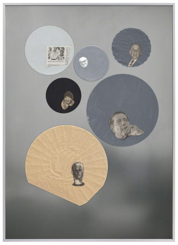 Joëlle Tuerlinckx, 'COLLAGES D'ARCHIVES-ATELIER Série Human Body - Portrait Tache', 2012, Painting, Collage, framed, Galerie nächst St. Stephan Rosemarie Schwarzwälder