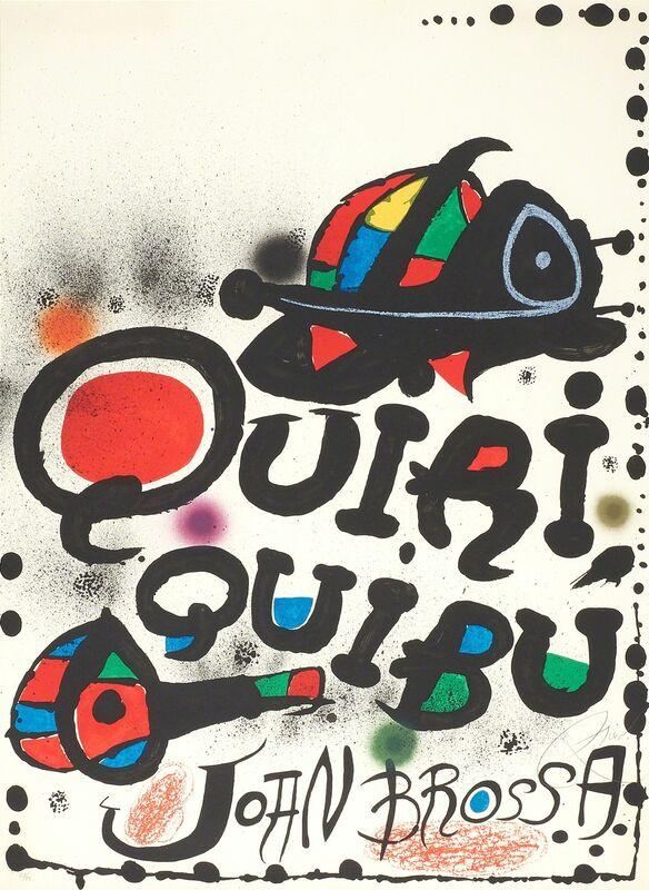 Joan Miró, 'Quiri-Quiriquibu', 1976, Print, Lithograph in colors (framed), Rago/Wright/LAMA