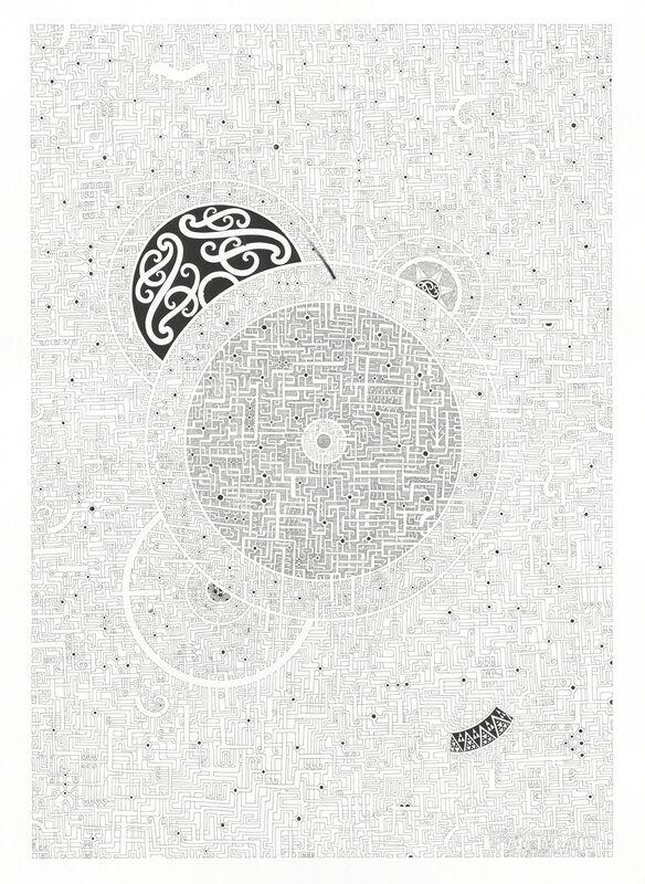 Liam Te Nahu, 'Te Mana o te Tangata', 2015, Drawing, Collage or other Work on Paper, Pen on paper, Toi o Tahuna