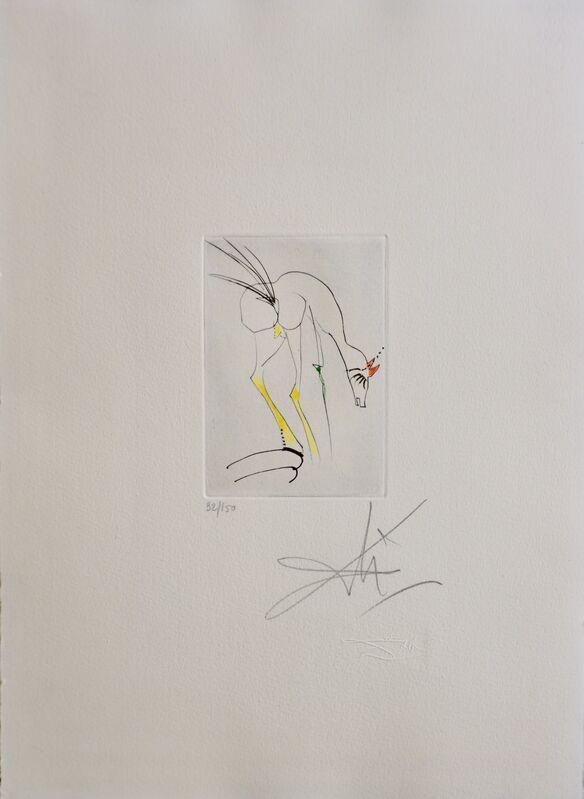 Salvador Dalí, 'Faust Vignettes La Biche-The Dog', 1969, Print, Etching, Fine Art Acquisitions Dali