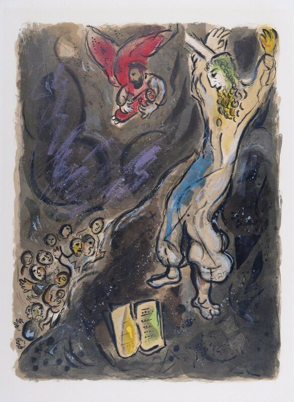 Marc Chagall, 'The Story of Exodus : The Golden Earrings', 1966, Print, One Original Lithograph 1966, NCAG