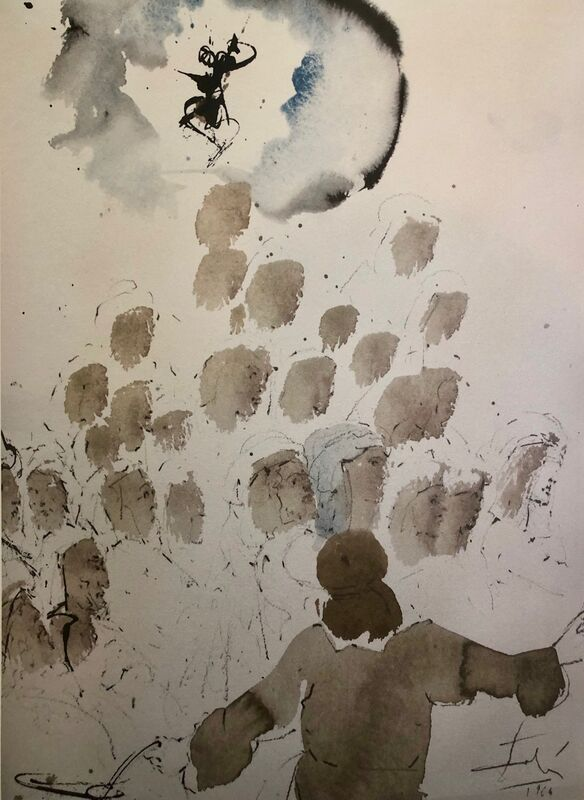 Salvador Dalí, 'The Money Changers Thrown out Of The Temple, 'Nummularii De Templo Eiecti', Biblia Sacra', 1967, Print, Original Lithograph, Inviere Gallery
