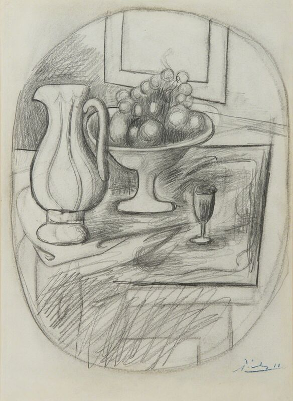 Pablo Picasso, 'Compotier avec poire et pomme', 1919, Drawing, Collage or other Work on Paper, Pencil on paper, BAILLY GALLERY