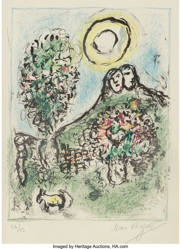 Marc Chagall, 'Le Baou de St-Jeannet II', 1969, Print, Lithograph in colors on Arches paper, with full margins, Heritage Auctions