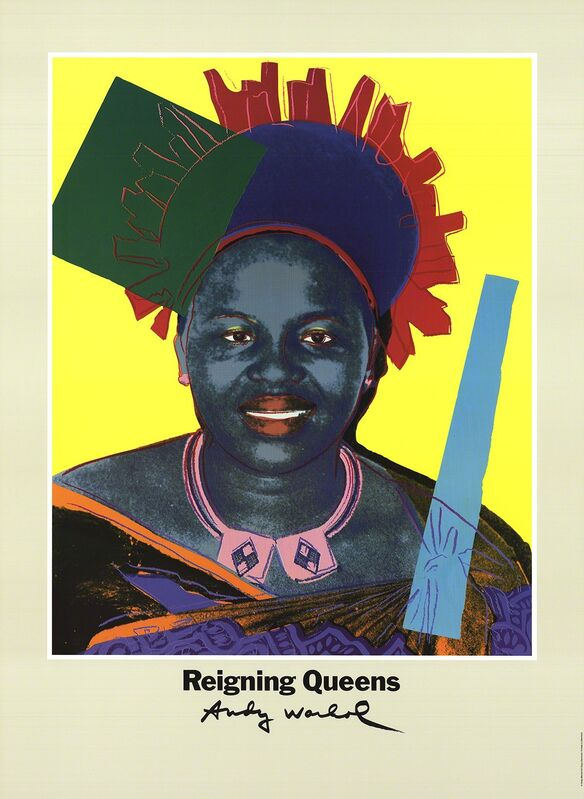 Andy Warhol, 'Queen Ntombi Twala Of Swaziland from Reigning Queens', 1986, Ephemera or Merchandise, Offset Lithograph, ArtWise