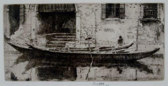 Ernest David Roth, 'Moored Sandolo, Venice', 1905