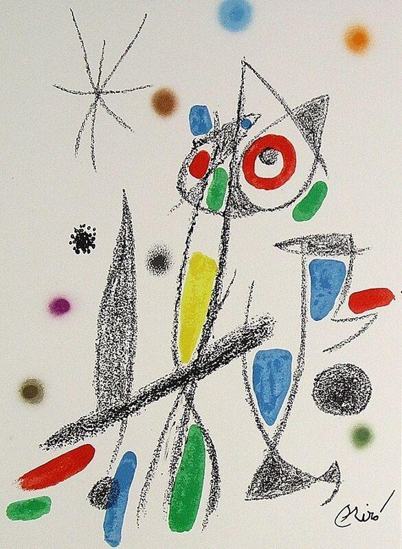 Joan Miró, 'Maravillas con variaciones acrósticas en el jardín de Miró XII', 1975, Print, Lithograph on Gvarro paper, ARTETRAMA