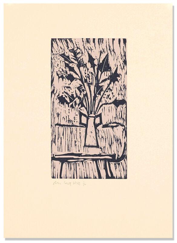 Alex Katz, 'Still Life', 2007, Print, Woodcut and lithograph on Rives Creme paper, Betsy Senior Fine Art