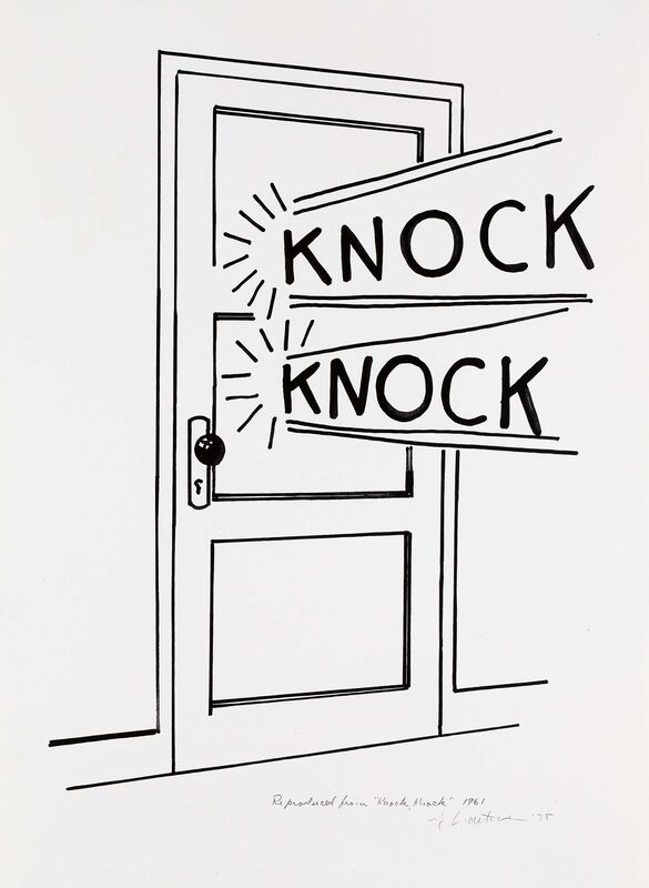 Roy Lichtenstein, 'Knock, Knock Poster', 1975, Posters, Linocut on Arches France (watermark), Van Ham