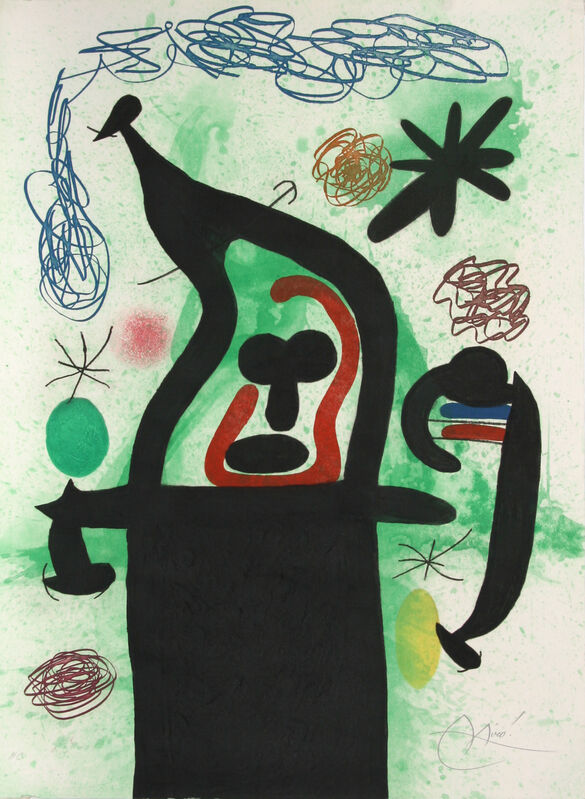 Joan Miró, 'La Harpie', 1969, Print, Etching, aquatint and carborundum in colors, on Arches paper, Artsy x Rago/Wright