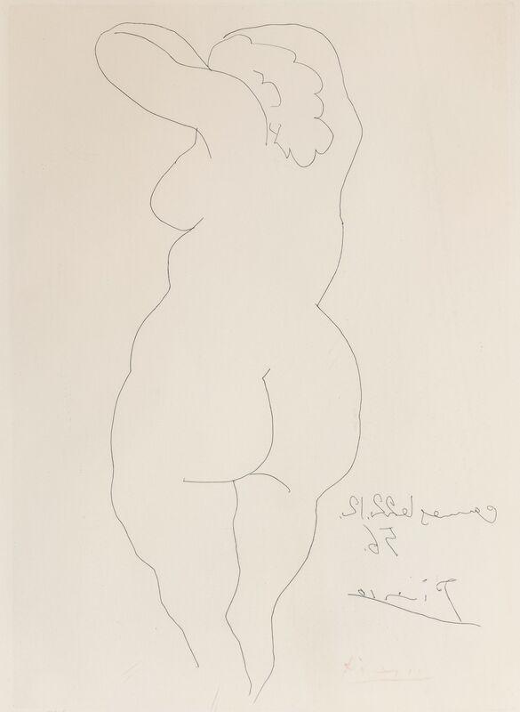 Pablo Picasso, 'Femme vue de dos', 1956, Print, Etching on wove paper, Heritage Auctions