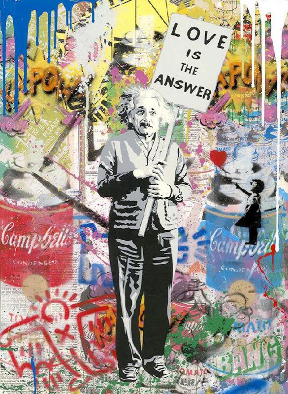 Mr. Brainwash, 'Einstein', 2020, Painting, Silkscreen and Mixed Media on Paper, Maddox Gallery