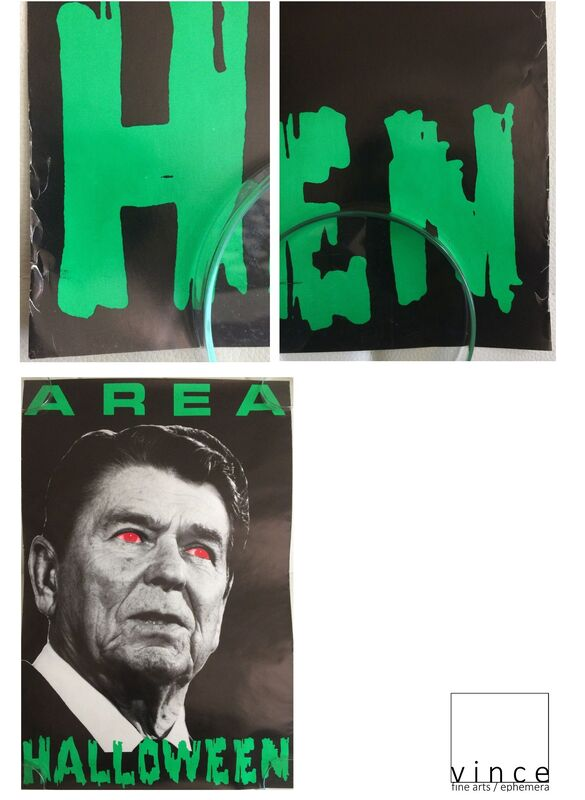 "Jean-Michel Basquiat, '""AREA-Halloween"", Party Poster, ca.1980's, AREA Nightclub NYC.', ca.1980's, Ephemera or Merchandise, Print on paper, VINCE fine arts/ephemera"