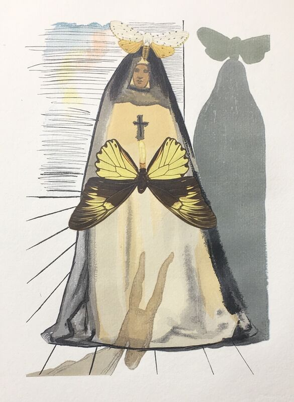 Salvador Dalí, 'Faith Moves Mountains', 1959, Drawing, Collage or other Work on Paper, Xylograph, Dali Paris
