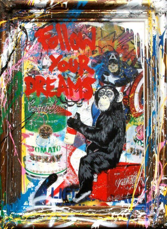 Mr. Brainwash, 'Follow you Dreams', 2020, Painting, Mixed media on Canvas, Kapopoulos Fine Arts