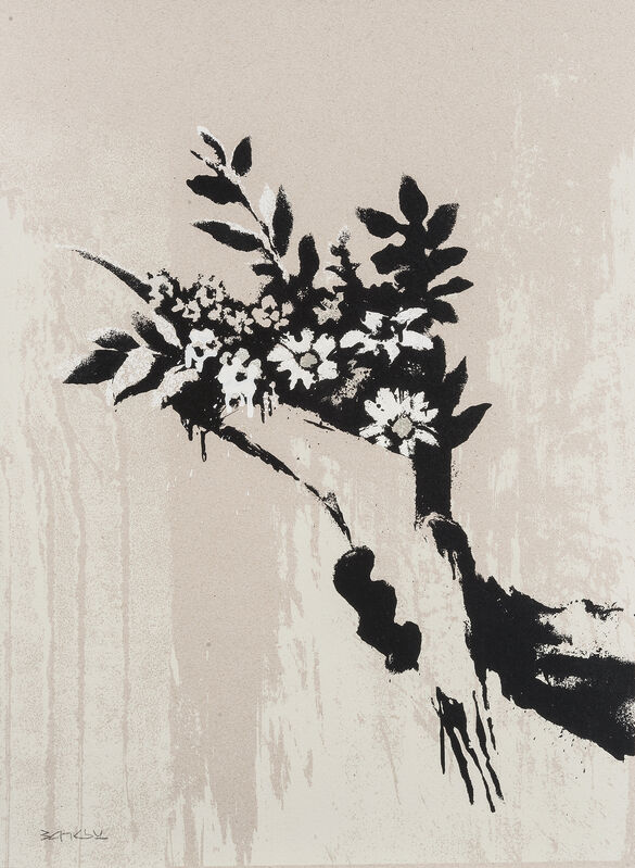 Banksy, 'Thrower (Grey)', 2019, Print, Triptych, screenprint in colours on 1500 micron board, Tate Ward Auctions