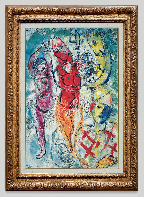 Marc Chagall, 'Les Trois Acrobates ', 1959, Painting, Oil on canvas, Opera Gallery