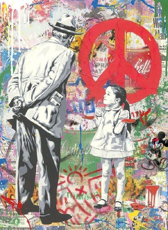 Mr. Brainwash, 'Caught Red Handed', 2020, Painting, Silkscreen and Mixed Media on Paper, Maddox Gallery