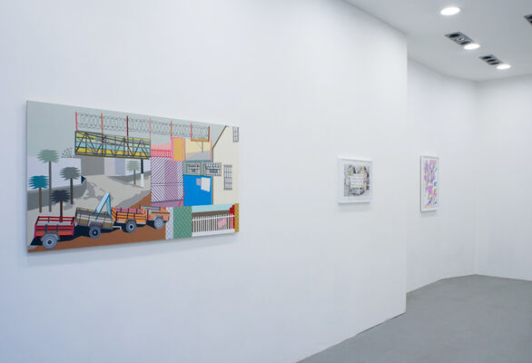 """Wall Between"", installation view"