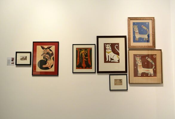 JAMINI ROY – A collection of works from Swaraj Art Archive, installation view