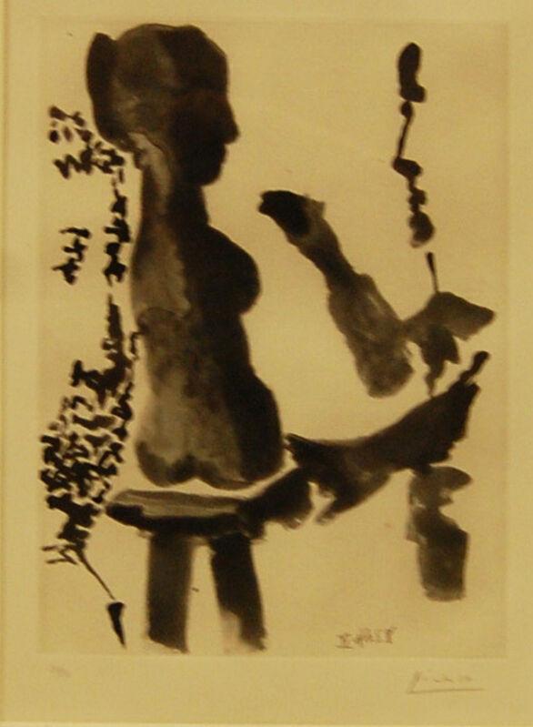 Pablo Picasso, 'Sculpteur devant sa sellette avec un spactateur ', 1965, Print, Aquatint on paper, Baterbys