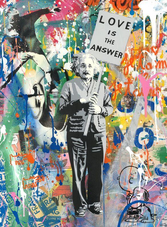 Mr. Brainwash, 'Einstein', 2019, Mixed Media, Mixed media on cardboard, NG Art Gallery