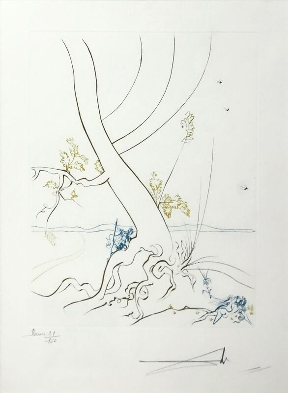 Salvador Dalí, 'L'ARBREDE CONNAISSANCE (THE TREE OF KNOWLEDGE)', 1974, Print, ENGRAVING IN COLORS, Gallery Art