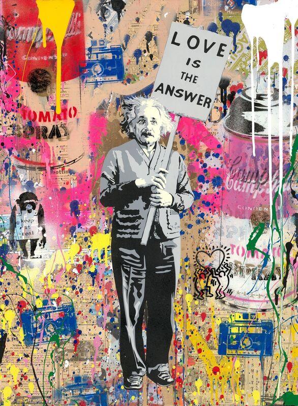 Mr. Brainwash, 'Einstein', 2019, Painting, Silkscreen and Mix Media on Paper, Corridor Contemporary