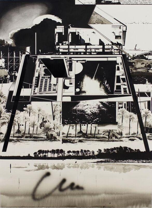 Hiroki Tsukuda, 'The Cave', 2013, Painting, Black ink and charcoal on paper, Nanzuka