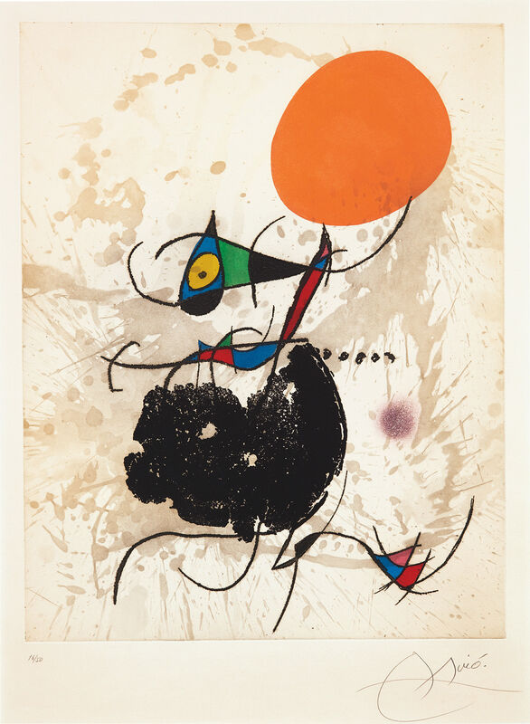Joan Miró, 'Terre atteinte et soleil intact (Earth Affected and Sun Intact)', 1973, Print, Etching and aquatint in colors, on Arches watermark Maeght, with full margins., Phillips