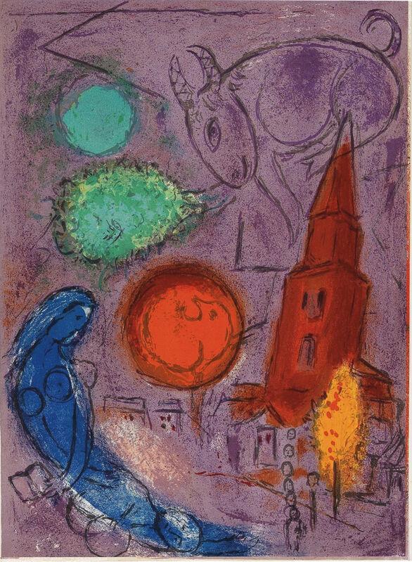 Marc Chagall, 'Saint-Germain-des-Prés', 1954, Print, Original Lithograph in Colors on Wove Paper, NCAG