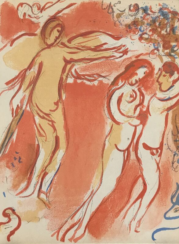 Marc Chagall, 'Adam and Eve are Banished from Paradise', 1960, Print, Lithograph, Georgetown Frame Shoppe