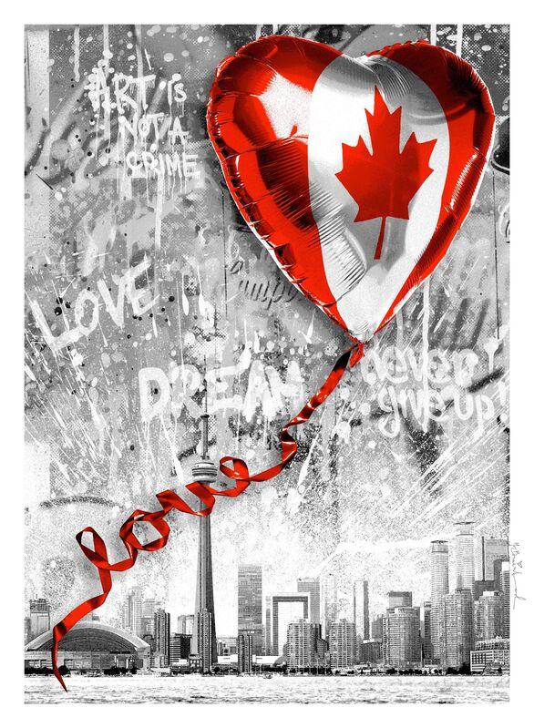 Mr. Brainwash, 'We Love Canada', 2020, Print, Screenprint on paper, Taglialatella Galleries
