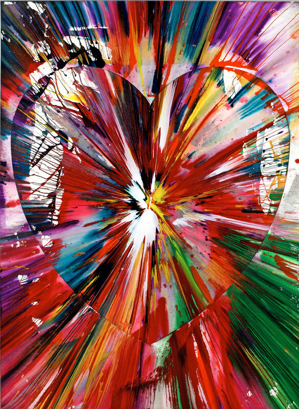 Damien Hirst, 'Spin Painting - Heart', 2009, Painting, Acrylic on wove paper, Christopher-Clark Fine Art