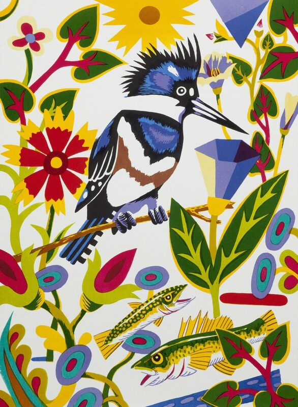 Billy Hassell, 'Kingfisher (Into White)', 2015, Print, Color lithpograph, Conduit Gallery