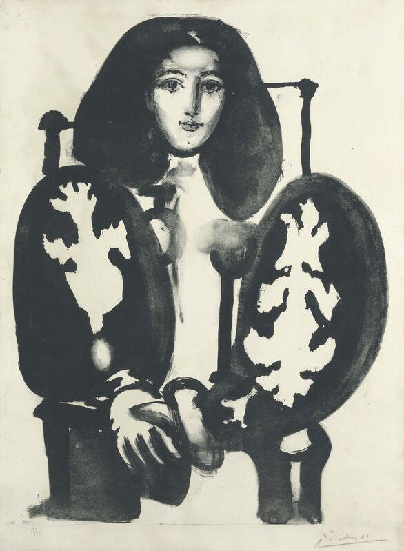 Pablo Picasso, 'Femme au Fauteuil No. 1', 1948, Print, Lithograph on Arches paper, Christie's