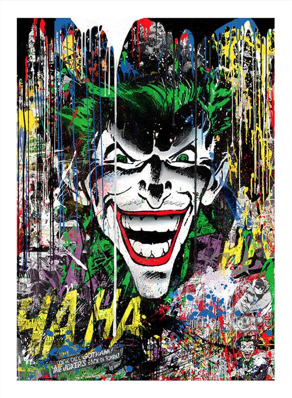 Mr. Brainwash, 'The Joker', 2019, Print, Silkscreen and mixed media on paper, Taglialatella Galleries
