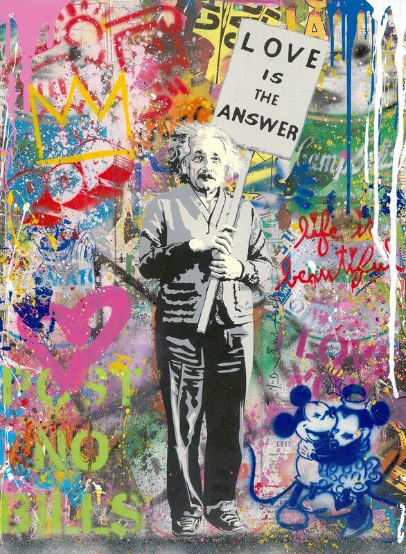 Mr. Brainwash, 'Einstein', 2020, Painting, Silkscreen and Mixed Media on Paper, Corridor Contemporary