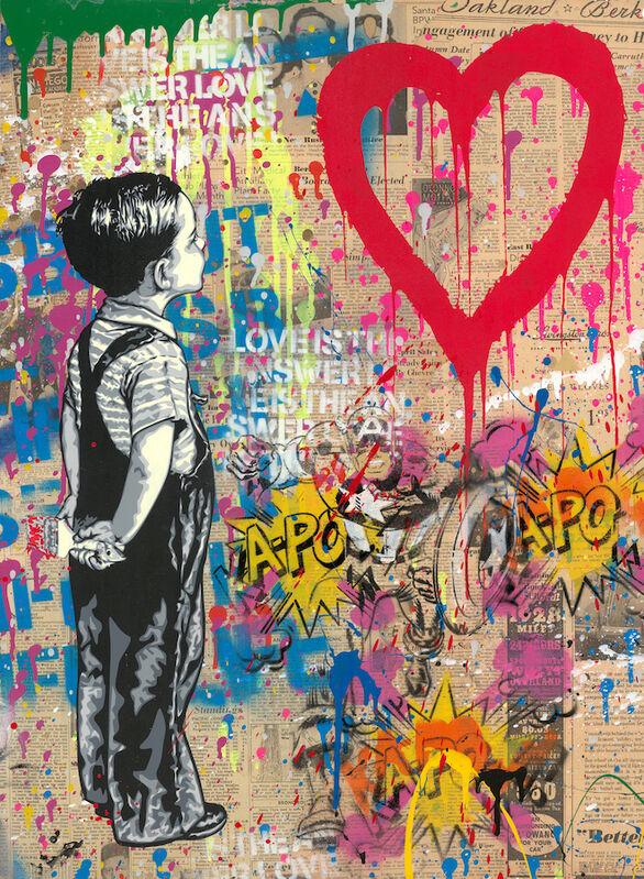 Mr. Brainwash, 'With All My Love', 2019, Painting, Mixed media on paper, Eternity Gallery