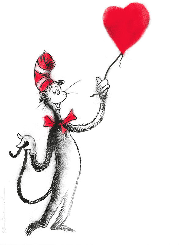 Mr. Brainwash, 'THE CAT AND THE HEART (BALLOON)', 2020, Print, Two and Three-color screen-print on archival paper, Gallery 1890