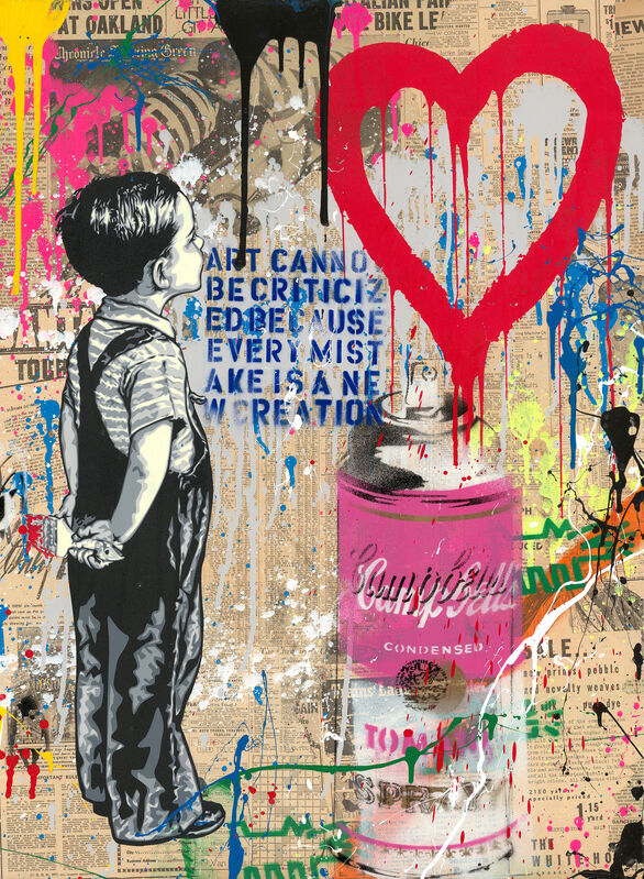 Mr. Brainwash, 'With All My Love', 2019, Painting, Silkscreen and Mixed Media, Zemack Contemporary Art