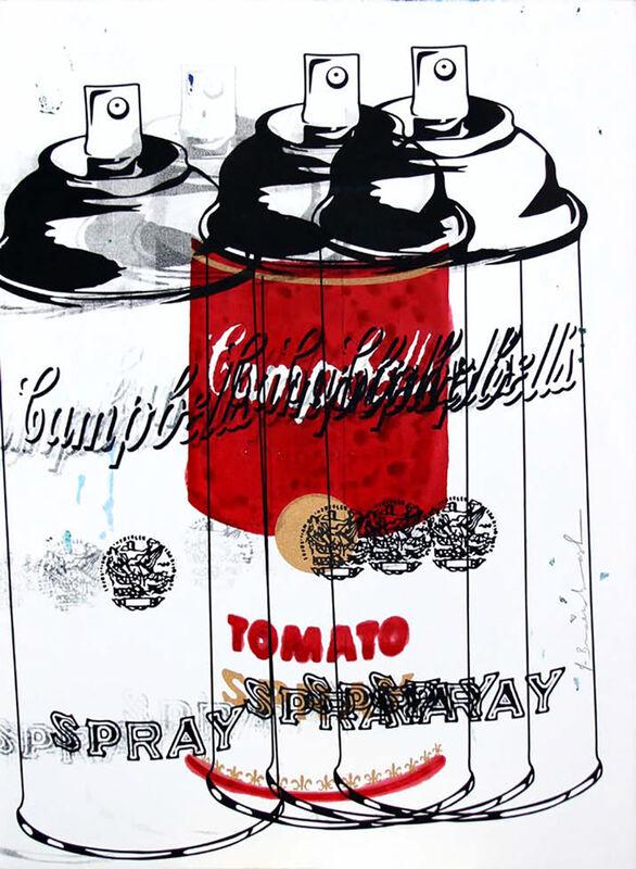 Mr. Brainwash, 'Tomato Spray ', 2013, Mixed Media, Screenprint and mixed media on paper, Taglialatella Galleries