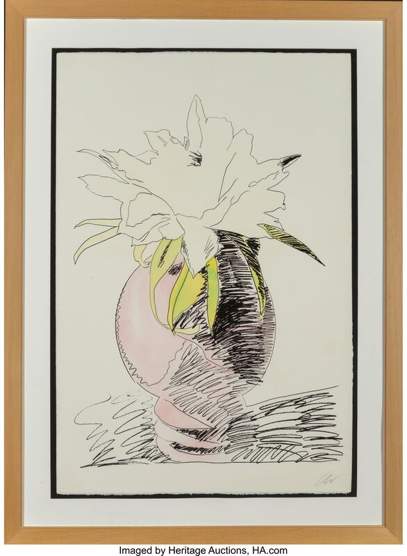 Andy Warhol, 'Flowers (Hand-Colored)', 1974, Print, Screenprint with handcoloring on Arches paper, Heritage Auctions