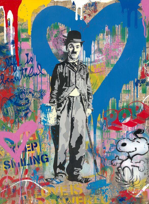 Mr. Brainwash, 'Chaplin', 2019, Mixed Media, Silkscreen and mixed media on paper, Taglialatella Galleries
