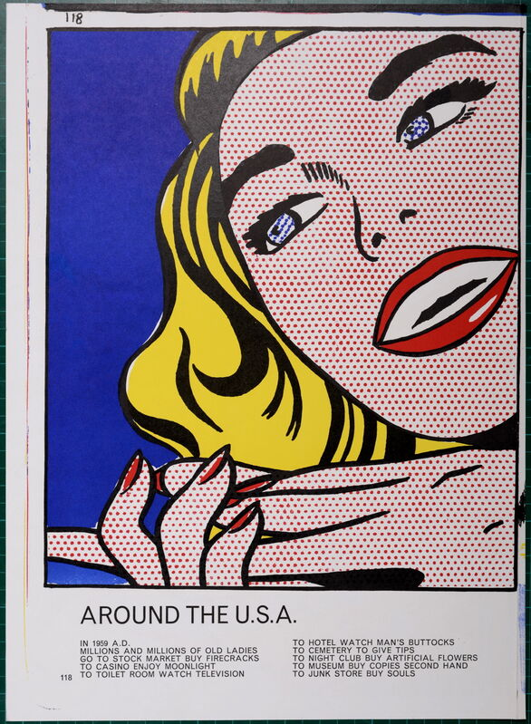 Roy Lichtenstein, 'Girl (1 cent life), 1964', 1964, Print, Original Lithograph in Colors on Wove Paper, NCAG