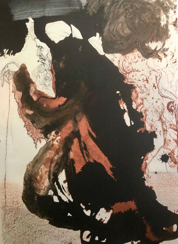 Salvador Dalí, 'A Mason's Trowel In The Hand Of The Lord Trulla, 'Caementarii In Manu Domini', Biblia Sacra', 1967, Print, Original Lithograph, Inviere Gallery