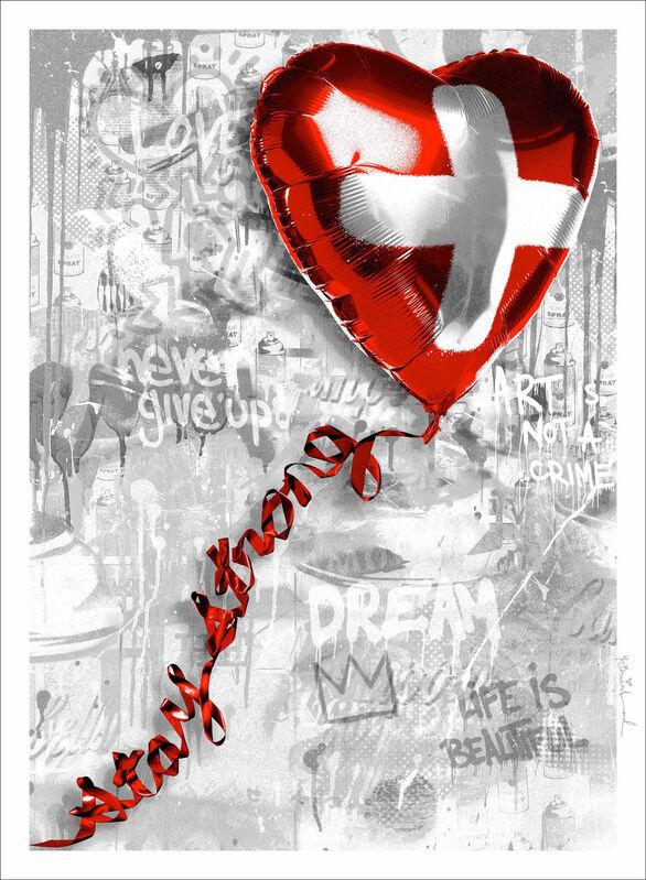 Mr. Brainwash, 'Stay Strong Swiss', 2020, Print, Silkscreen on paper., Frank Fluegel Gallery