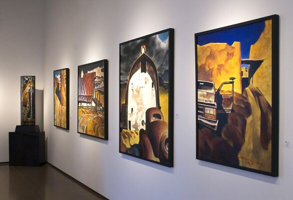 Paintings by Z. Z. Wei, installation view